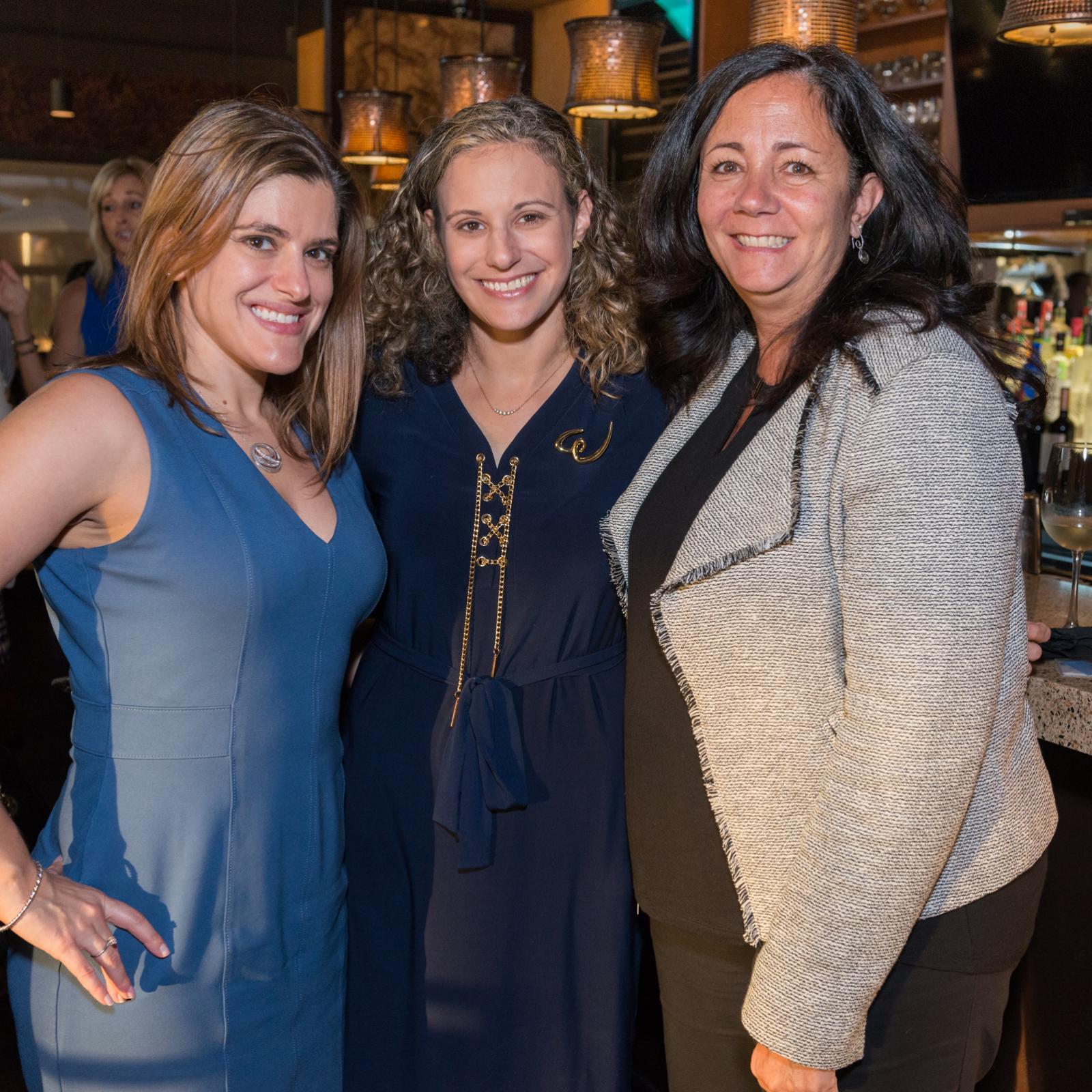 women at an event